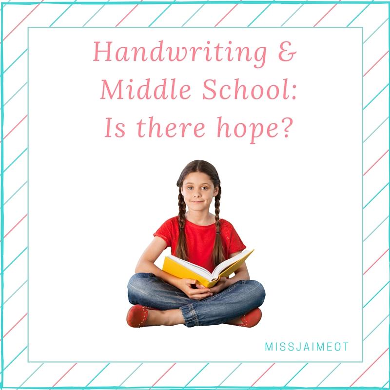 middle school and handwriting, graphomotor skills, dysgraphia