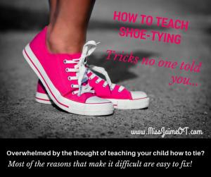 Shoe tying trick