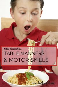 table manners and Special Needs