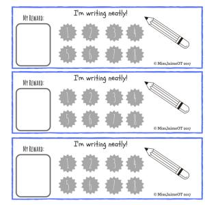 Writing Neatly Reward Chart