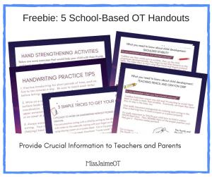 handwriting tips, hand strengthening, shoulder stability