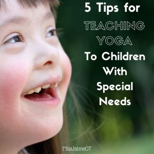 special needs yoga, teaching yoga to children, yoga