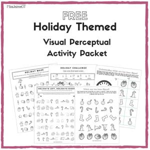 holiday themed visual perceptual activity packet