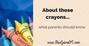 no jumbo crayons