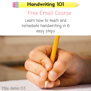 Handwriting, graphomotor skills, spacing tricks,