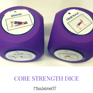 Core, gross motor, core strength
