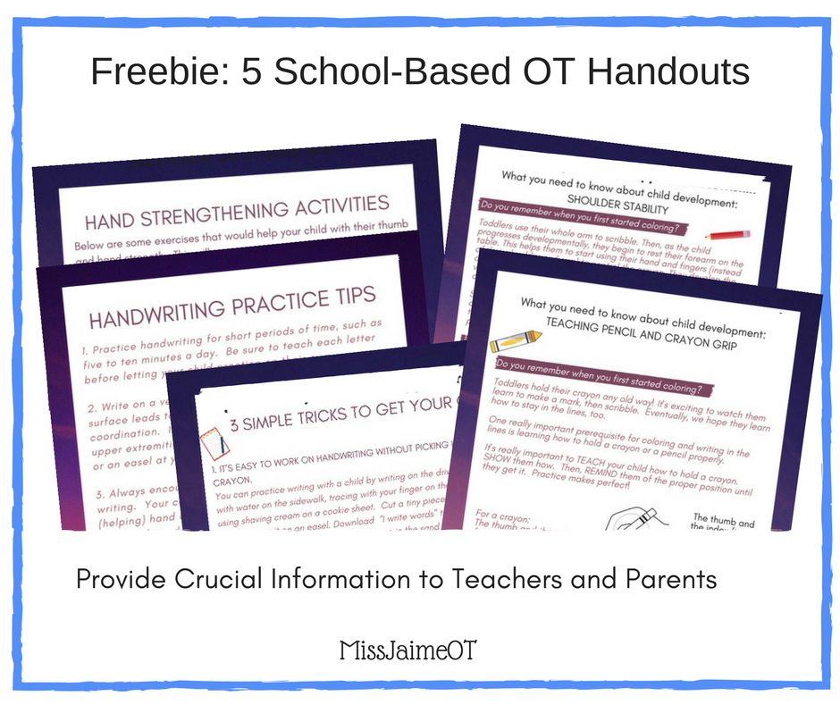Occupational Therapy Awareness Month Handouts