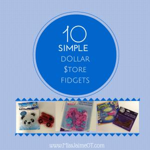 dollar store fidgets, sensory processing, fidgets