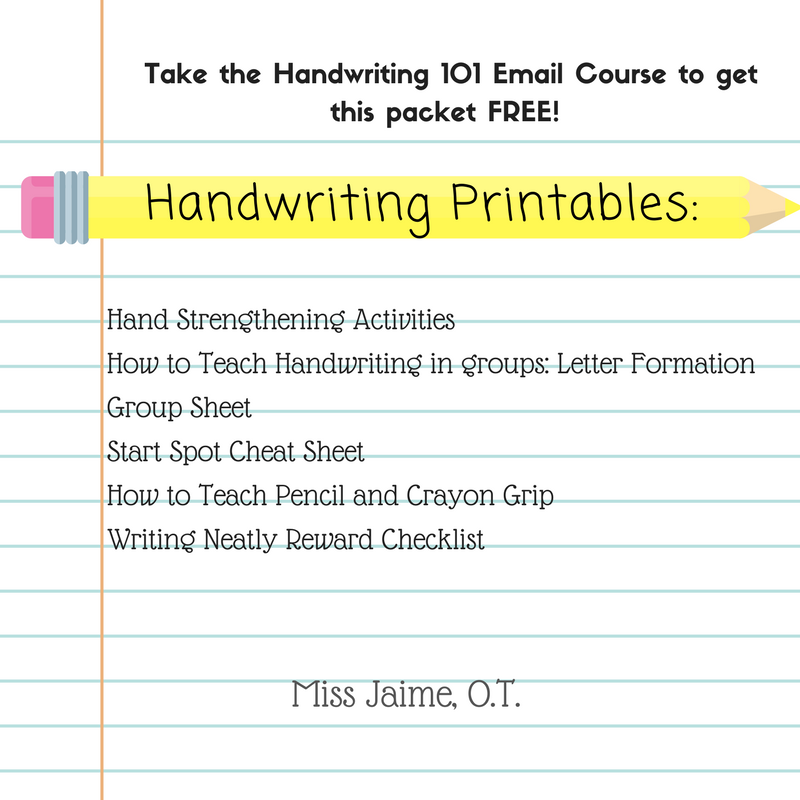 Handwriting Email Series Printable Packet Miss Jaime O T