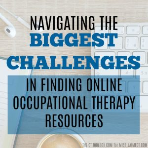 Occupational Therapy, OT resources, School OT