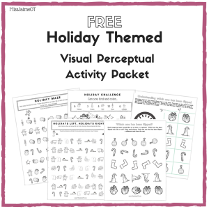 holiday themed visual perceptual activity packet