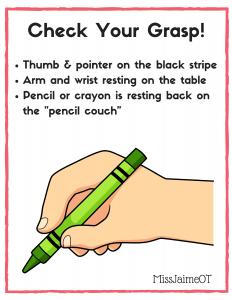 grasp, pencil grasp, crayon grasp,