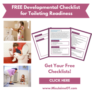 toilet training, potty training, toileting readiness, developmental checklists