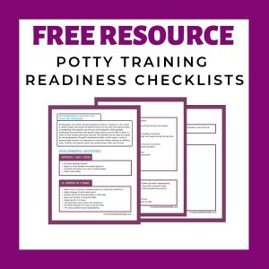 potty training, toileting, toilet training, developmental checklists, ready for potty, potty and sensory, poop and sensory