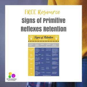 primitive reflexes, retained reflexes, OT, Miss Jaime OT