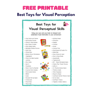 visual perception, visual perceptual toys, visual discrimination, visual figure ground