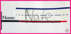 handwriting, letter size, spatial awareness, name writing
